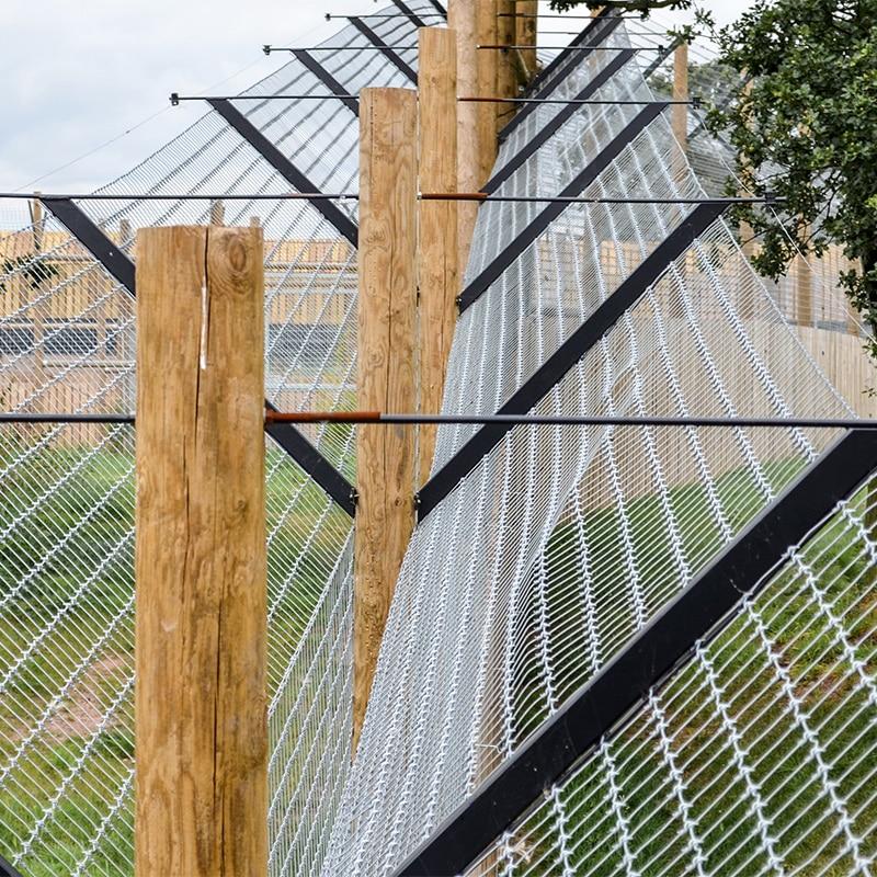 Non-climb wire fencing