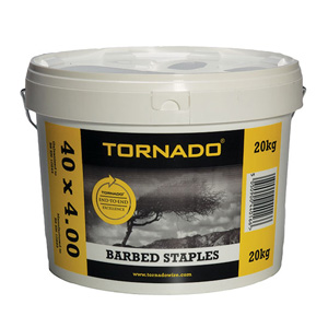20kg tub of barbed staples