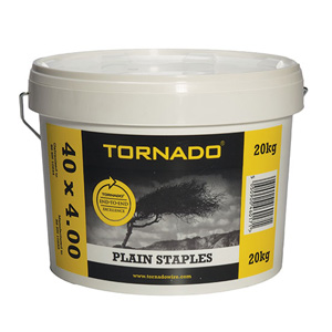 20kg tub of plain staples